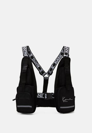 TAPE UTILITY VEST BAG - Olkalaukku - black