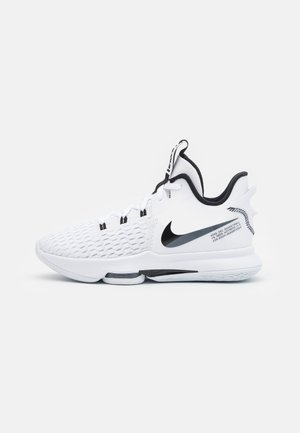 LEBRON WITNESS 5 - Basketball shoes - white/black
