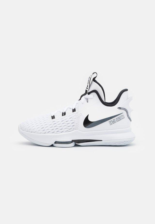 LEBRON WITNESS 5 - Basketbalové boty - white/black