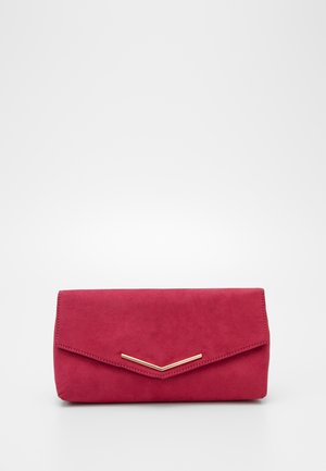 STITCHED METAL BAR CLUTCH - Clutch - pink