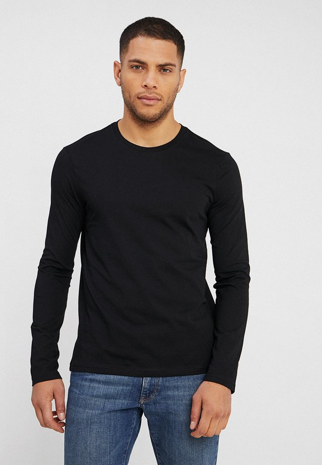 BASIC CREW NECK - Long sleeved top - black