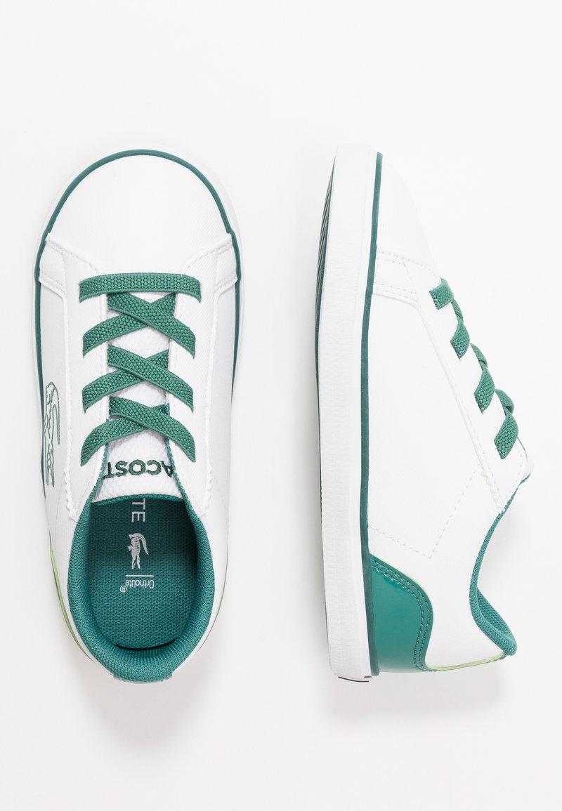 Lacoste - LEROND - Slip-ons - white/green