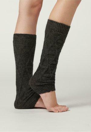 MUSTER - Leg warmers - - 8374 - charcoal grey diamond knit