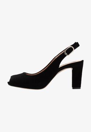 NICKA CLASSIC - Peeptoe heels - black