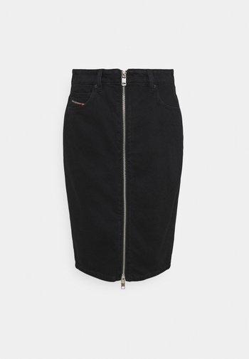 DE-PENCIL-ZIP - Denim skirt - denim black