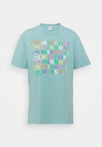 Print T-shirt - mottled teal