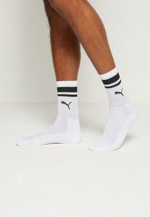 CREW HERITAGE STRIPE 4 PACK UNISEX - Chaussettes de sport - black/white