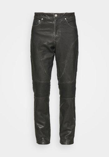 PANTS  - Kožené kalhoty - black