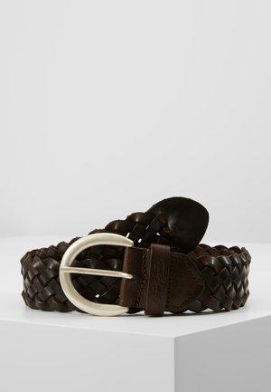 Braided belt - dark brown