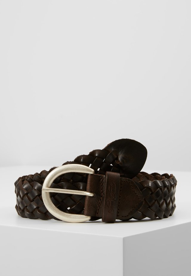 Palmikkovyö - dark brown