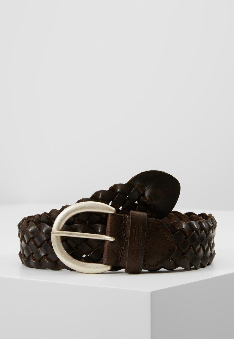 TOM TAILOR - Braided belt - dark brown