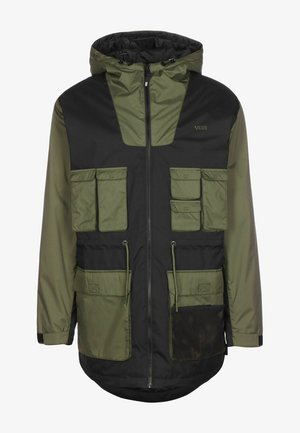 Winter coat - black/grape leaf