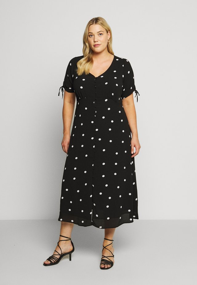 POLKA DOTS DRESS - Robe chemise - black