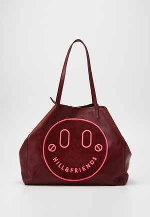 HAPPY SLOUCHY TOTE - Tote bag - oxblood