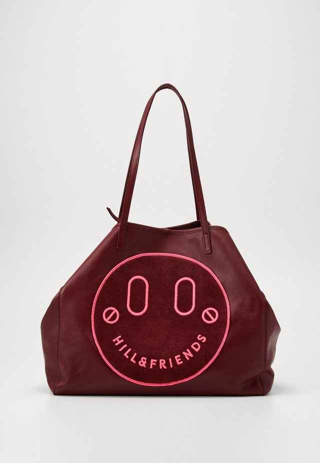 HAPPY SLOUCHY TOTE - Shopping bag - oxblood