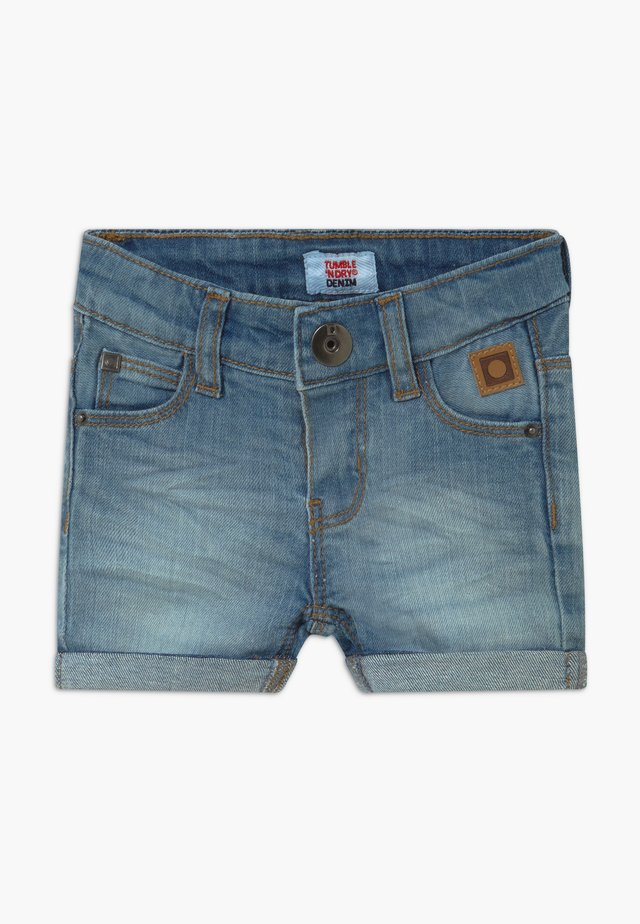 TIJAY - Shorts di jeans - light-blue denim