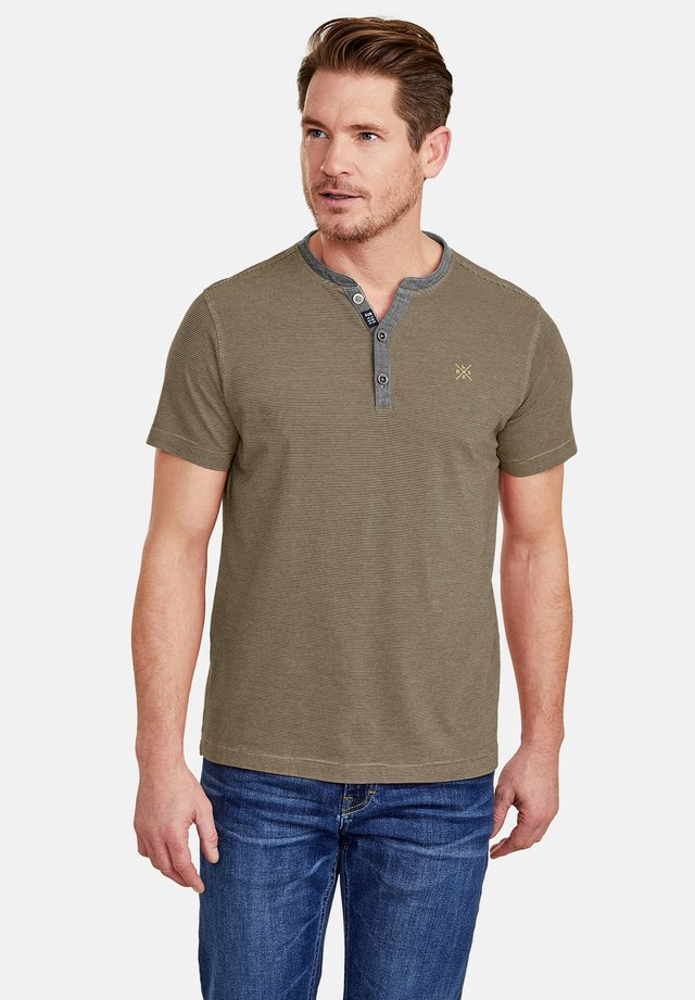 Print T-shirt - brindle beige