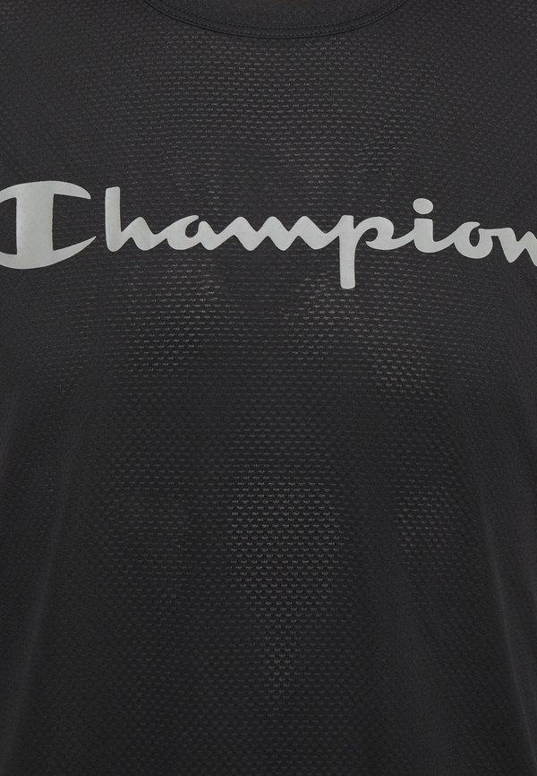 Champion CREWNECK - T-shirt z nadrukiem - black/czarny Odzież Męska IGSA