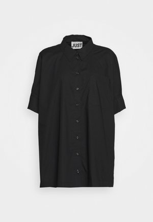 NORIA - Button-down blouse - black