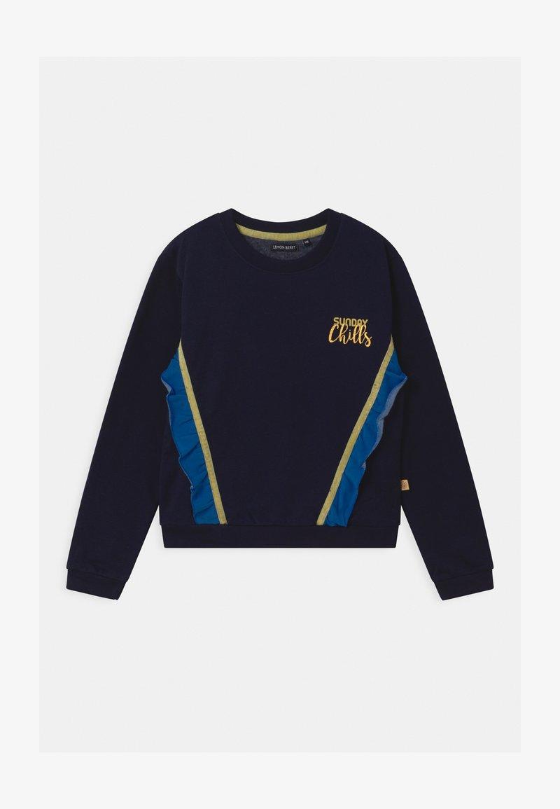 Lemon Beret - GIRLS  - Sweatshirt - navy blazer