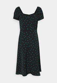 Even&Odd Petite - Maxi dress - black/green - 1