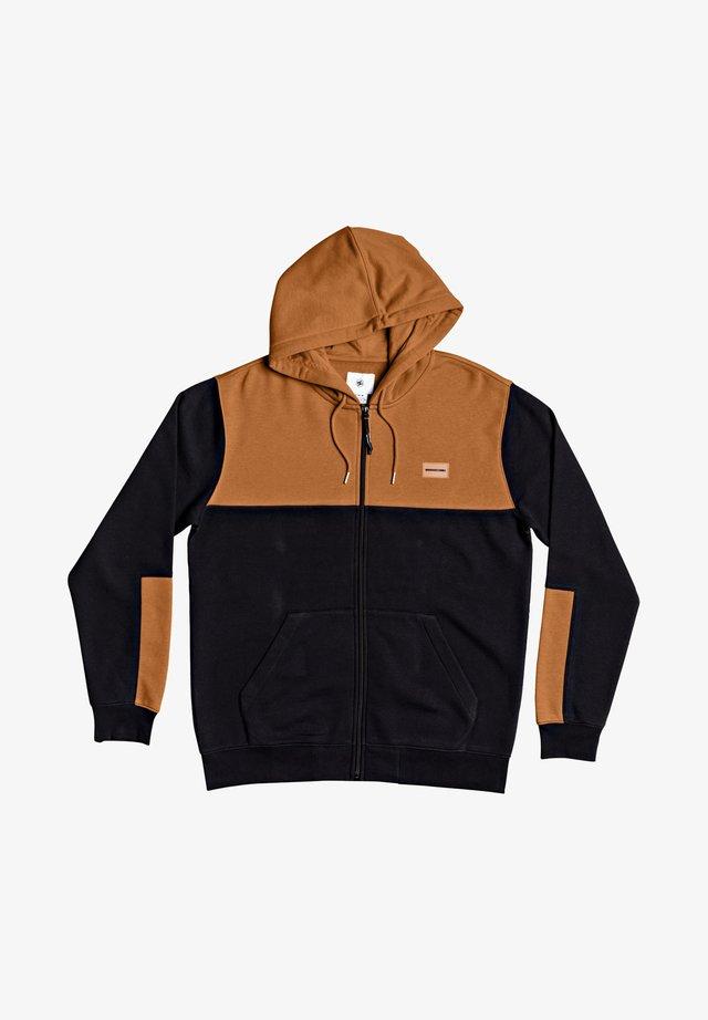 DOWNING - veste en sweat zippée - black