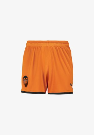 Sports shorts - vibrant orange-puma black