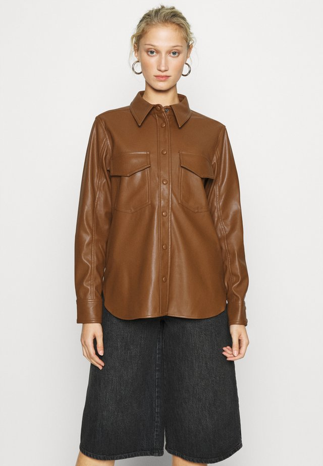KAREN  - Button-down blouse - brown