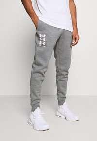 Under Armour - RIVAL MULTILOGO - Pantalon de survêtement - pitch gray light heather - 0