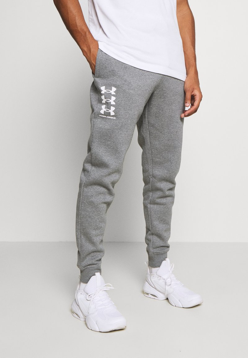 Under Armour - RIVAL MULTILOGO - Pantalon de survêtement - pitch gray light heather