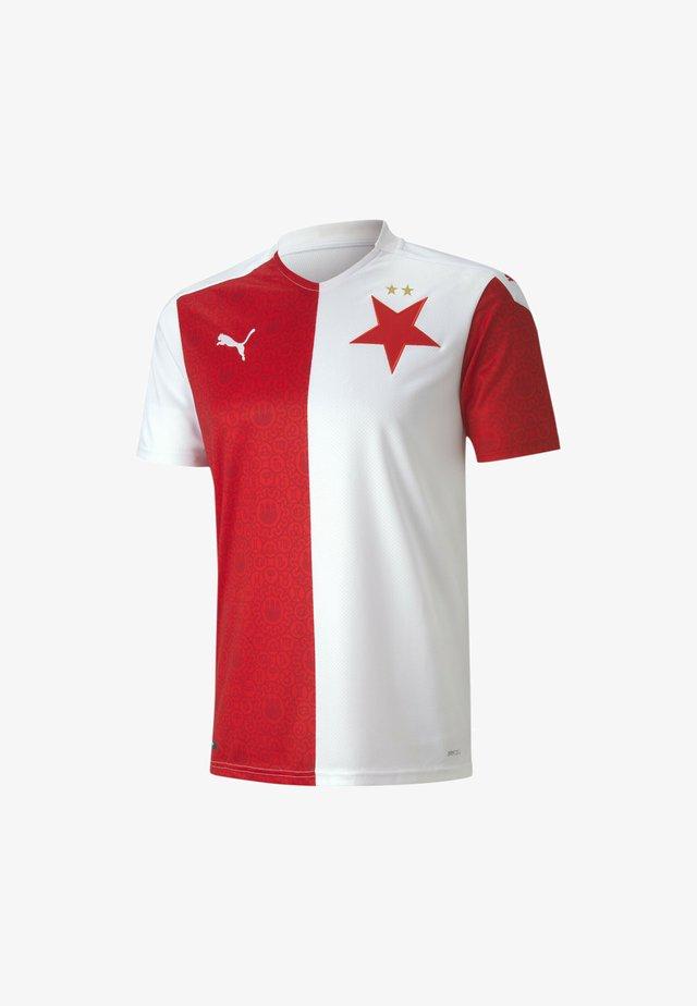 SLAVIA PRAGUE REPLICA HOME - T-shirt print - puma white-puma red