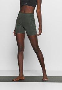 Cotton On Body - LOVE YOU A LATTE BIKE SHORT - Leggings - khaki - 0
