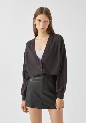 Strickjacke - dark grey