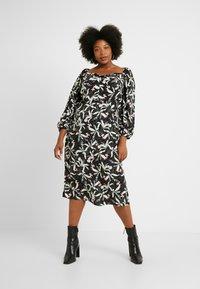 Glamorous Curve - ORIENTAL FLORAL MILKMAID DRESS - Day dress - oriental - 0