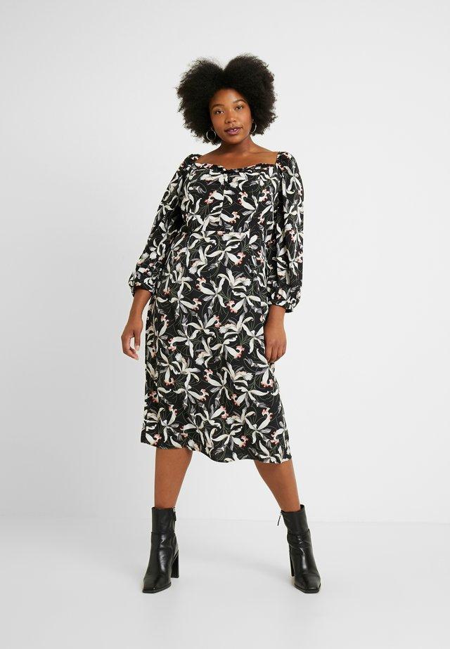 ORIENTAL FLORAL MILKMAID DRESS - Korte jurk - oriental