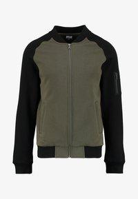 TONE - Zip-up hoodie - oliv/black