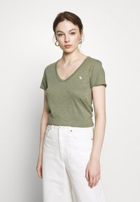 Abercrombie & Fitch - SOFT TEE - Basic T-shirt - green - 0
