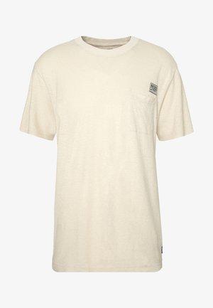 HERITAGE - HEMP RETRO FIT TEE - T-shirt print - macadamia