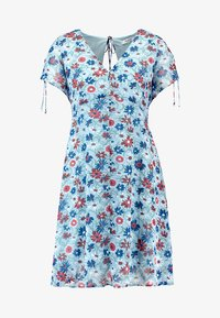 OPEN BACK SIDE SMOCKED DRESS - Day dress - poolhouse feather blue