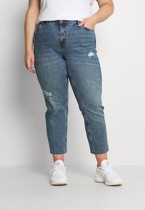VMBRENDA CUT - Slim fit jeans - medium blue denim
