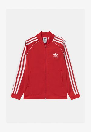 TRACK UNISEX - Training jacket - scarlet/white