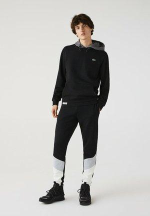 COLOURED HOOD - Sweatshirt - schwarz / heidekraut grau