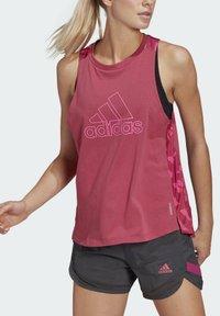 adidas Performance - T-shirt sportiva - pink - 4