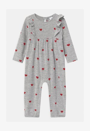 Jumpsuit - grey/red