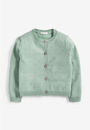 BOBBLE CARDIGAN (3MTHS-7YRS) - Kardigan - green