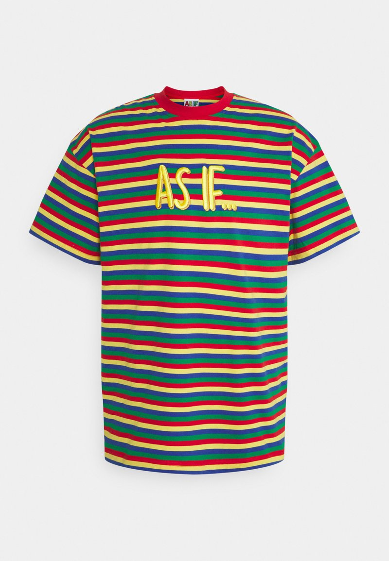 AS IF Clothing - LINES TEE UNISEX - Print T-shirt - multicolor