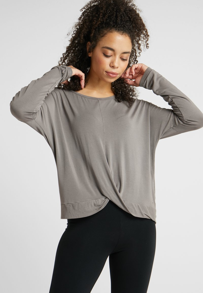 Deha - MANICA LUNGA - Long sleeved top - elephant gray