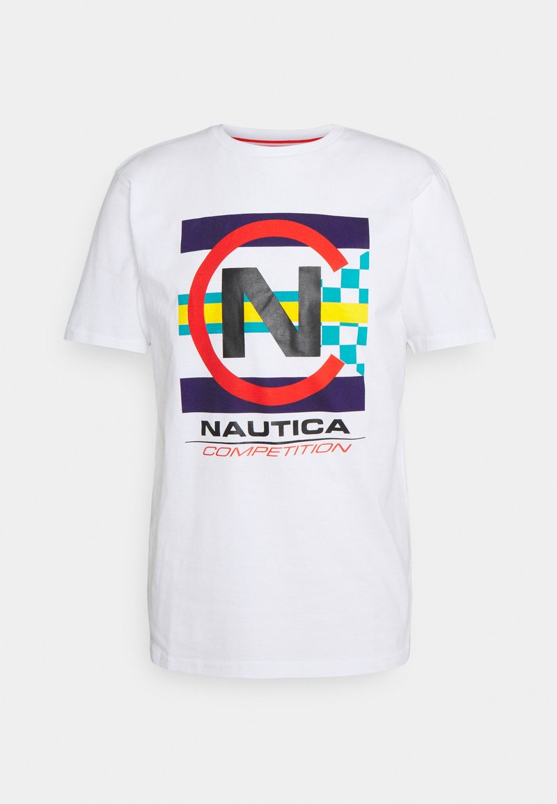 NAUTICA COMPETITION - GRAPNELL - Print T-shirt - white