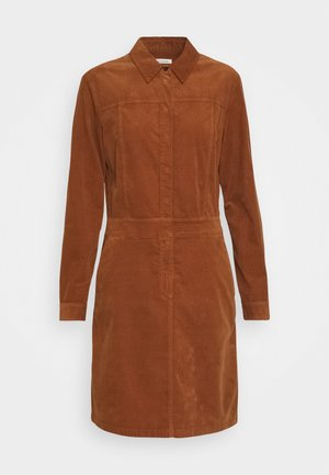 DRESS STYLE BUTTON PLACKET DETAILS - Vestido camisero - chestnut brown