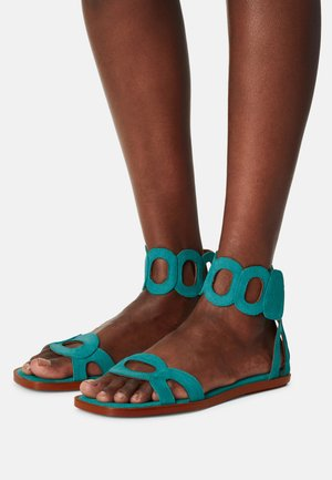 VEGAN HORTENSIA - Ankle cuff sandals - acqua